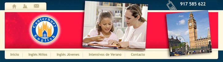 Diseño web de una escuela de inglés. Trabajo en Valencia