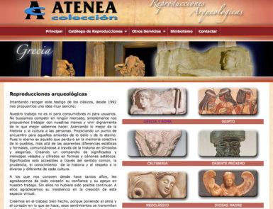 web atenea colección